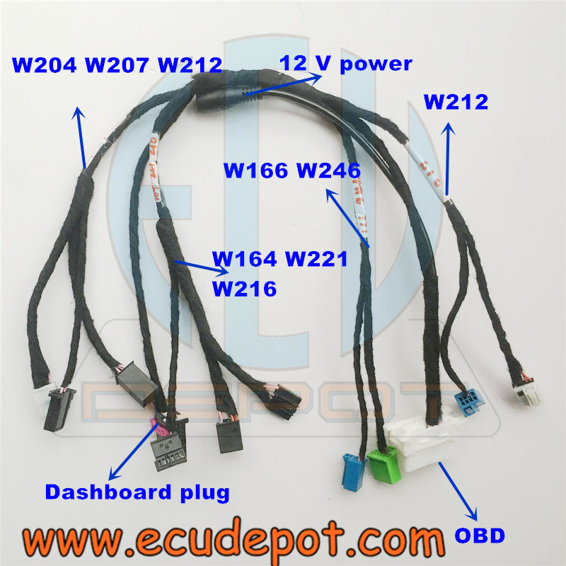 Mercedes Benz key adaption EZS EIS ESL harness set