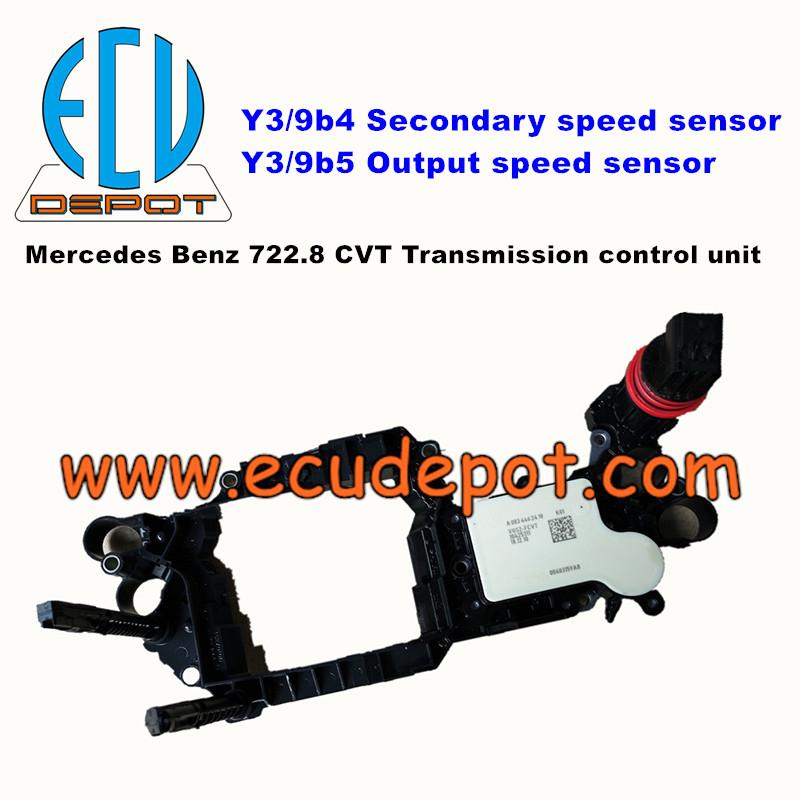 Mercedes Benz 722 8 CVT gearbox transmission control unit Y3/9b4 Y3/9b5  sensor